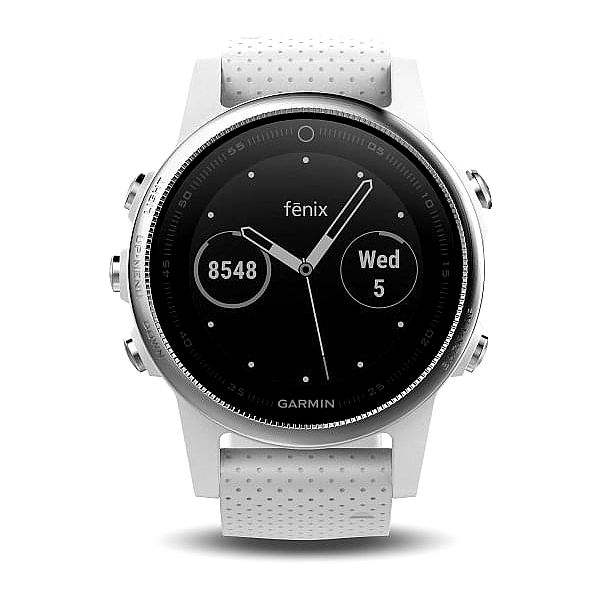 GPS hodinky Garmin Fenix 5S stříbrné/bílé (010-01685-00)