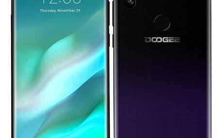 Mobilní telefon Doogee X90L (DGE000388) fialový SIM karta T-Mobile SIM s kreditem T-mobile Twist V síti 200 Kč kredit - hlasové volání v hodnotě 200 Kč