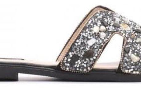 Dámské černé pantofle Alicia 7299