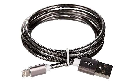 CellFish USB/Lightning ,1m šedý (CELLKOVGREYAPP)