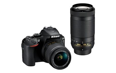 Digitální fotoaparát Nikon D5600 + 18-55 AF-P VR + 70-300 AF-P VR černý (VBA500K004)