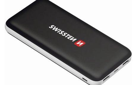 Powerbank Swissten Black Core Slim 15000mAH, USB-C (22013923) černá