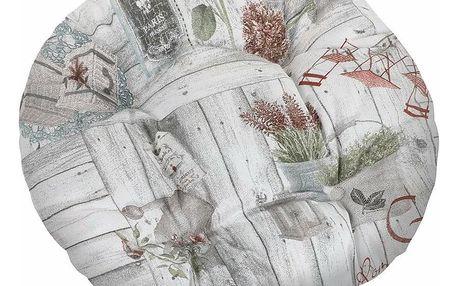 Bellatex Sedák EMA kulatý prošívaný Terasa, 40 cm