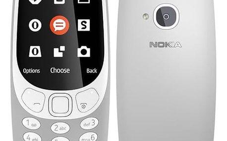 Mobilní telefon Nokia 3310 (2017) Dual SIM šedý (A00028270)