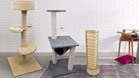 Škrabadla pro kočky: karton, závěsná i velké typy