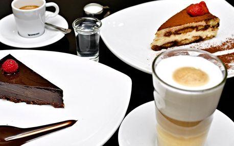 Nápoj a dort podle výběru pro 1 i 2 osoby