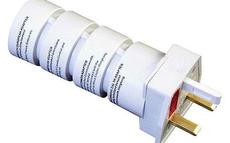 Cestovní adaptér Solight souprava UK, USA, AUS, AFR bílý (PA21)