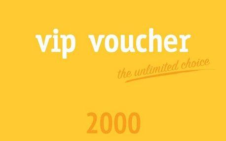 VIP voucher 2000 Kč