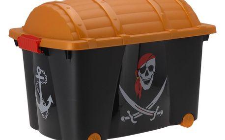 Koopman Dekorační úložný box Pirát, 60 x 40 x 42 cm
