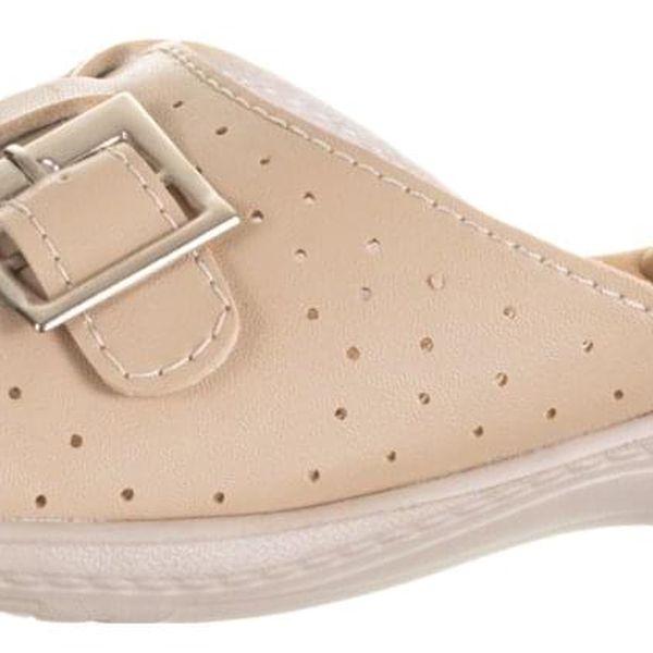Feixu Dámské pantofle měkká stélka zlatá spona umělá kůže ZV0040-1044