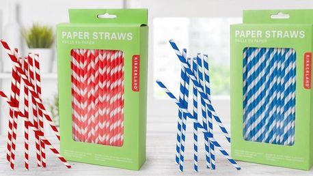Papírová červenobílá nebo modrobílá brčka