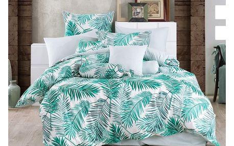 BedTex Bavlněné povlečení Palms Green, 140 x 200 cm, 70 x 90 cm