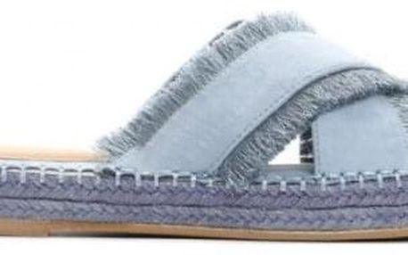 Dámské modré pantofle Cecilia 8427
