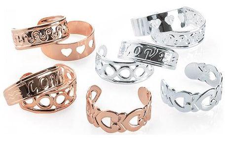 SET: 10 prstenů na nohu ve zlaté barvě Carina 31963