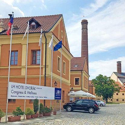 Tábor: 4* hotel v areálu hradu se snídaní či polopenzí + varianty s wellness nebo pivními lázněmi