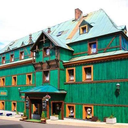 Krušné hory v Hotelu Zelený Dům *** s polopenzí, kávou a slevou do aquaparku