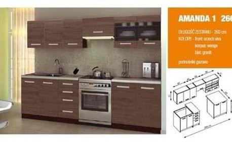 Kuchyňská linka Amanda 1 - 260, dub santana