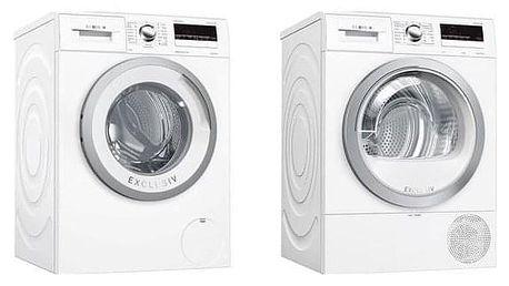 Set Bosch - pračka WAN28290BY + sušička WTR85V90BY