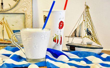 Krémový milkshake ze selského mléka a fíků