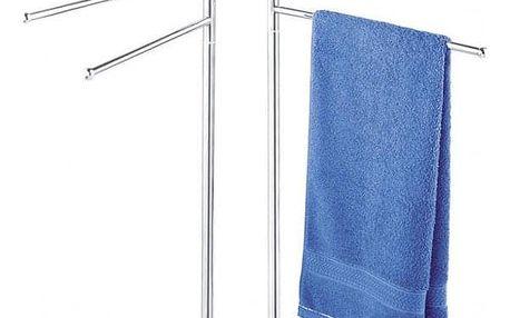 Koupelnový věšák na ručníky - 4 ramenný, chromovaný, WENKO