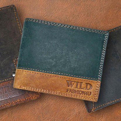 Pánské kožené peněženky Wild z broušené kůže