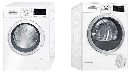 Set Bosch - pračka WAT28467CS + sušička WTW876WBY
