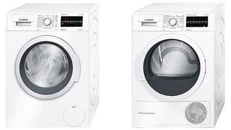 Set Bosch - pračka WAT28467CS + sušička WTW87467CS