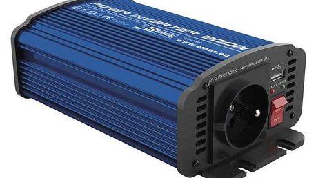 Měnič napětí EMOS do auta 12V/230V, 300W, USB 2100mA (N0036)