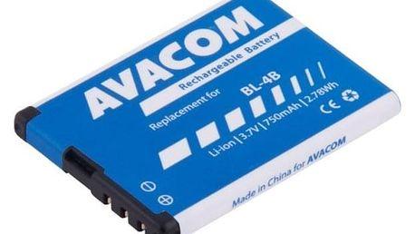 Baterie Avacom pro Nokia 6111, Li-Ion 3,7V 750mAh (náhrada BL-4B) (GSNO-BL4B-S750)