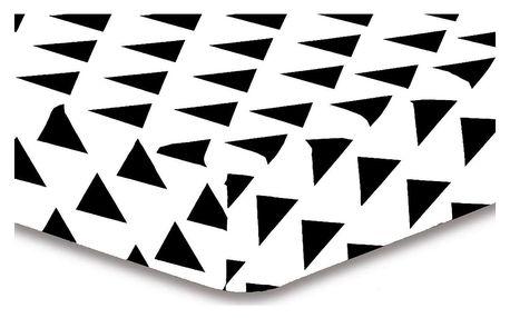 DecoKing Prostěradlo Triangles S1, 160 x 200 cm