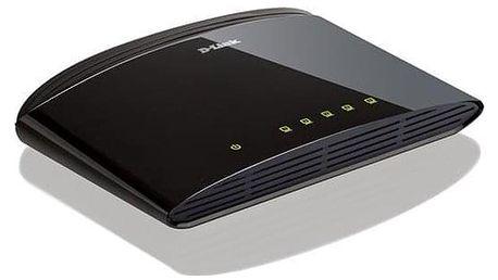 D-Link DES-1005D stříbrný 5 port, 10/100 Mb/s (DES-1005D)