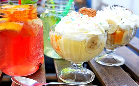Zmrzlina a domácí limonáda pro 1 i pro 2 osoby