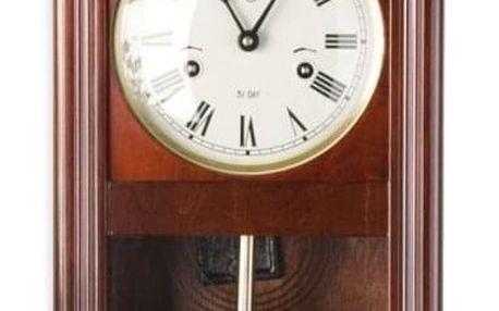Tuin THESEUS 1403 Nástěnné kyvadlové hodiny mahagon - 60 cm