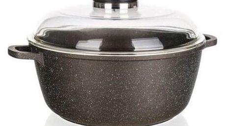 Banquet Kastrol s nepřilnavým povrchem PREMIUM Dark Brown 28 x 12,5 cm, s poklicí s aroma knobem