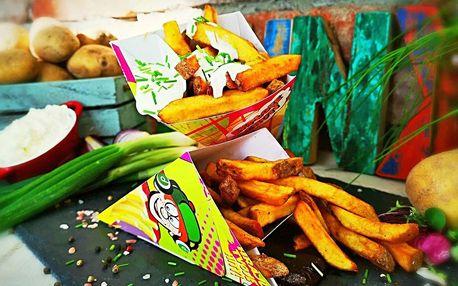 Punk Food hranolky s omáčkou pro jednoho i pro dva