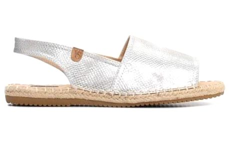 Dámské stříbrné sandály Menorca 8419