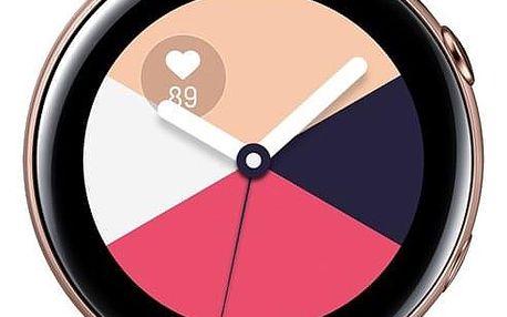 Chytré hodinky Samsung Galaxy Watch Active růžová/zlatá (SM-R500NZDAXEZ)