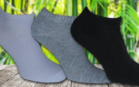 12 párů dámských kotníkových bambusových ponožek