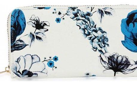 Dámská bílo modrá peněženka Molly 1108