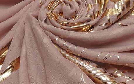 Dámský tmavě růžový šátek Iris