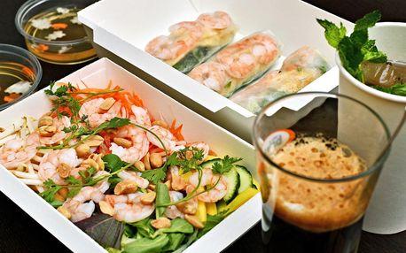 Take away nápoj, závitky a salát pro 1 i 2 osoby