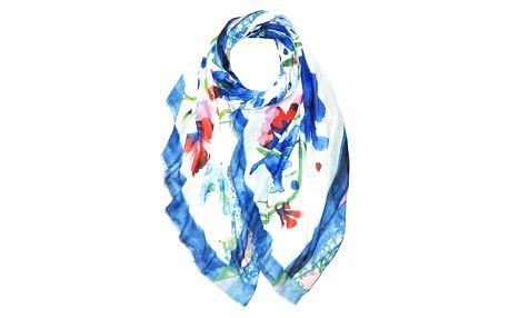 Dámský modrý šátek Grapes