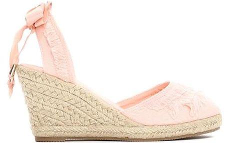 Dámské růžové sandály na klínku Deanna 2071