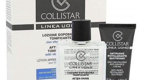 Collistar Men dárková kazeta pro muže voda po holení After-Shave Tonin Lotion 100ml + krém proti vráskám Anti-Wrinkle Cream 30 ml