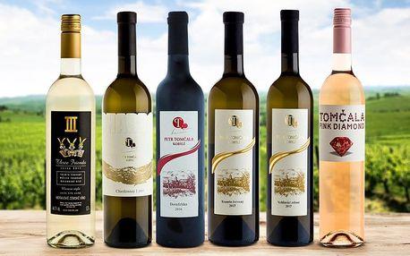 Sety 3 nebo 6 lahví vín v dárkovém balení