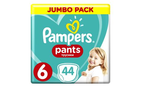 PAMPERS Pants 6, 44ks (15+ kg) JUMBO Pack - plenkové kalhotky