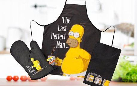 Zástěra, chňapka a utěrka Homera Simpsona