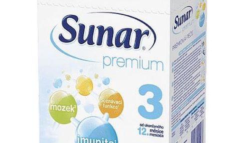 3x SUNAR Premium 3 (600 g) - kojenecké mléko