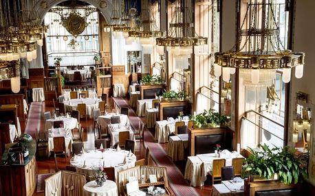Degustační večeře pro dva ve Francouzské restauraci Art Nouveau