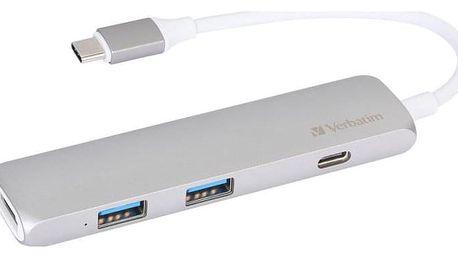 Verbatim USB-C ,2x USB 3.0, HDMI šedý (49540)